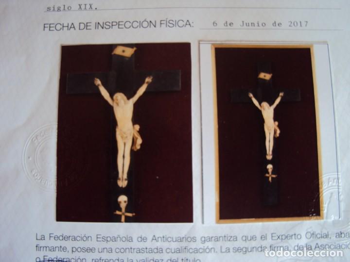 Antigüedades: (ANT-181066) CRISTO CRUCIFICADO - ESPAÑOL - MARFIL - SIGLO XVIII O XIX - CERTIFICADO - Foto 14 - 171699515