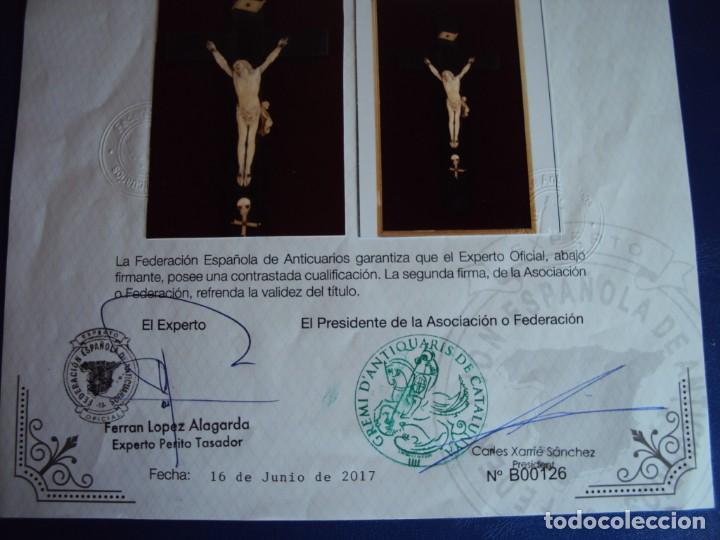 Antigüedades: (ANT-181066) CRISTO CRUCIFICADO - ESPAÑOL - MARFIL - SIGLO XVIII O XIX - CERTIFICADO - Foto 15 - 171699515