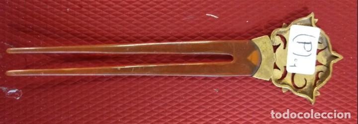 Antigüedades: Bonita peineta antigua carey o similiar - Foto 4 - 137987610