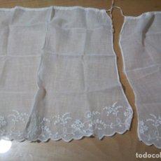 Antigüedades: * CORTINAS DE BATISTA BORDADA A MANO. (RF: 293/*). Lote 138023302