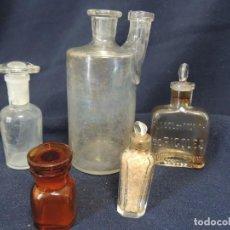 Antigüedades: LOTE 5 BOTES DE FARMACIA S XIX. Lote 138029478
