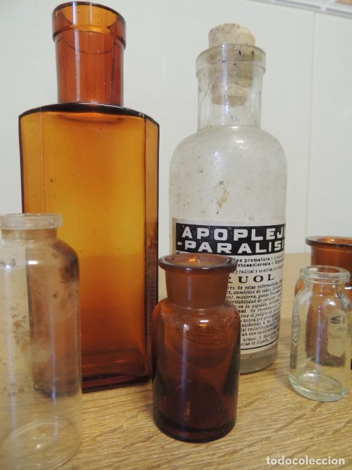 Antigüedades: lote 9 botes farmacia - Foto 3 - 138037854