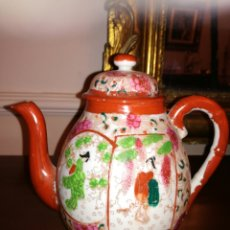 Antigüedades - Tetera porcelana Japonesa cáscara de huevo - 138047316
