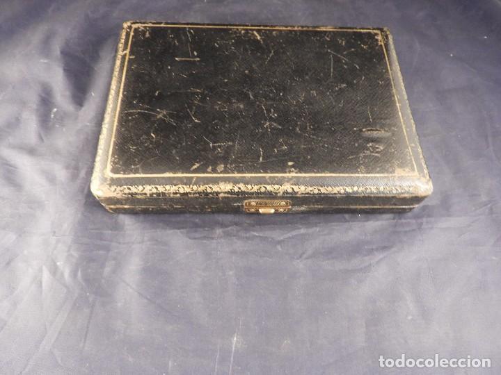 Antigüedades: ANTIGUA CAJA DE CUBIERTOS DE PLATA - Foto 11 - 138052054