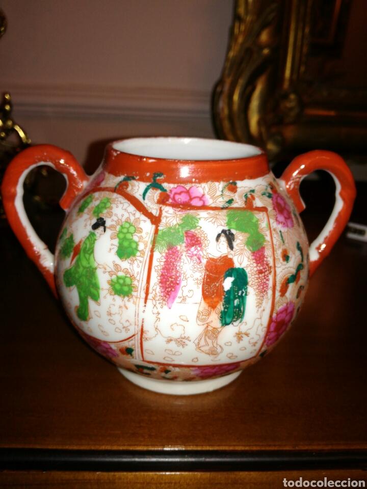 AZUCARERO DE PORCELANA JAPONESA CASCARA DE HUEVO (Antigüedades - Porcelana y Cerámica - Japón)