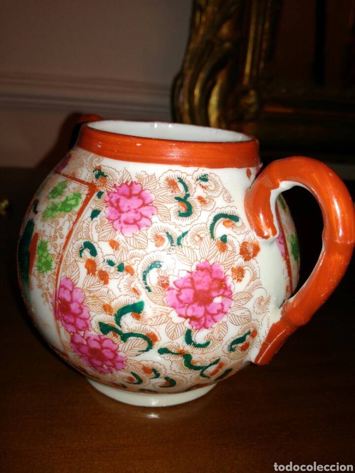 Antigüedades: Azucarero de porcelana Japonesa cascara de huevo - Foto 2 - 138052105