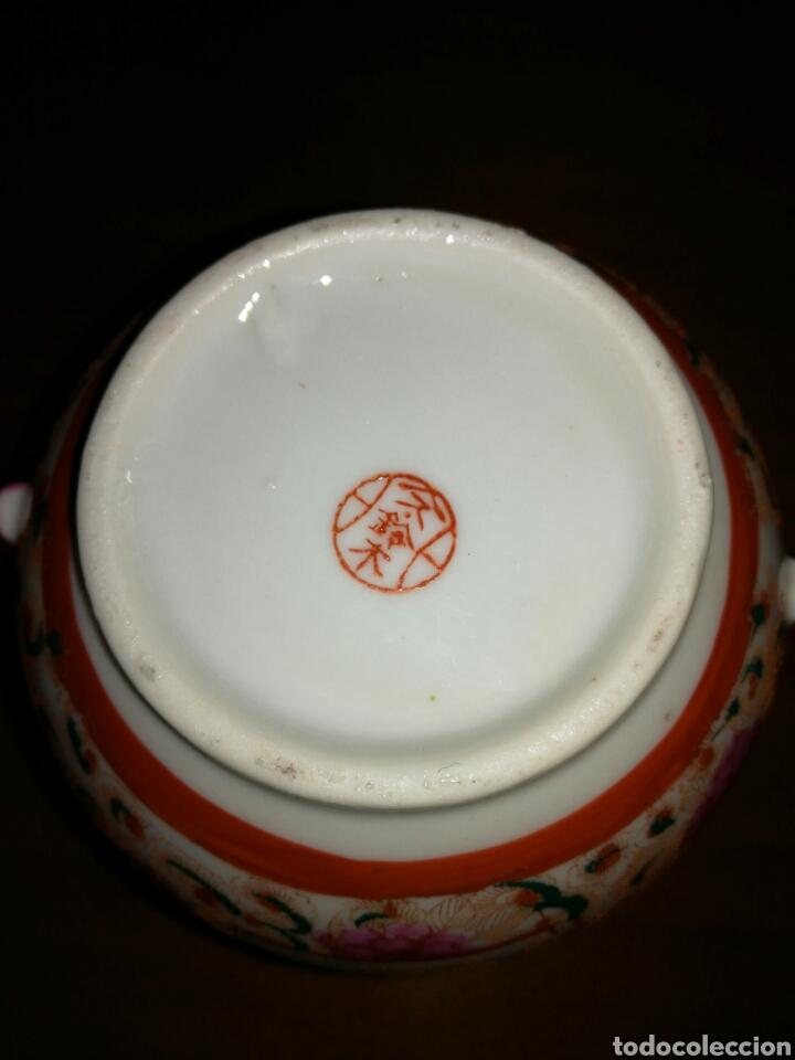 Antigüedades: Azucarero de porcelana Japonesa cascara de huevo - Foto 5 - 138052105