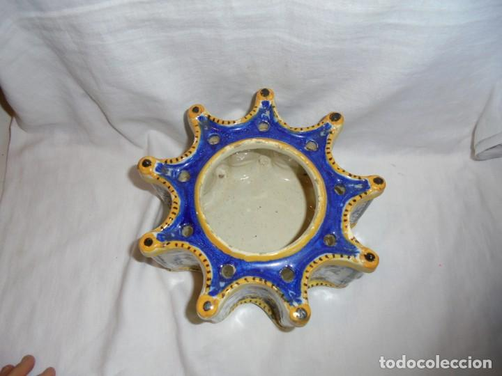 Antigüedades: ANTIGUO TINTERO TALAVERA - Foto 10 - 138069582