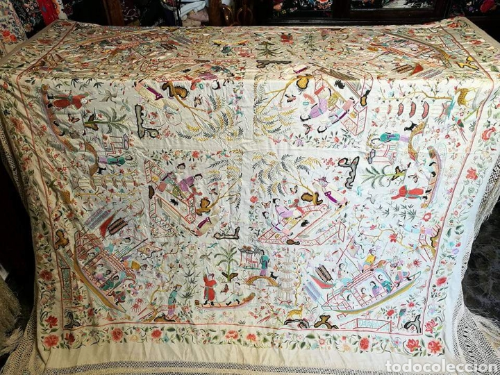 Antigüedades: Maravilloso mantón antiguo - Foto 2 - 138082622
