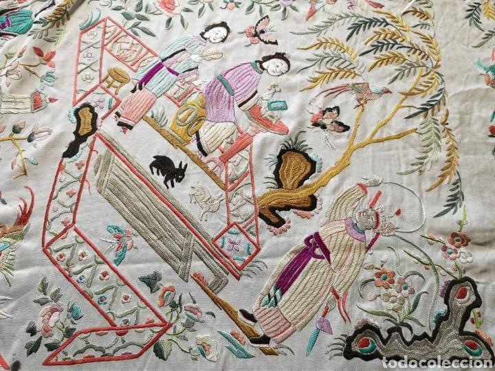 Antigüedades: Maravilloso mantón antiguo - Foto 4 - 138082622