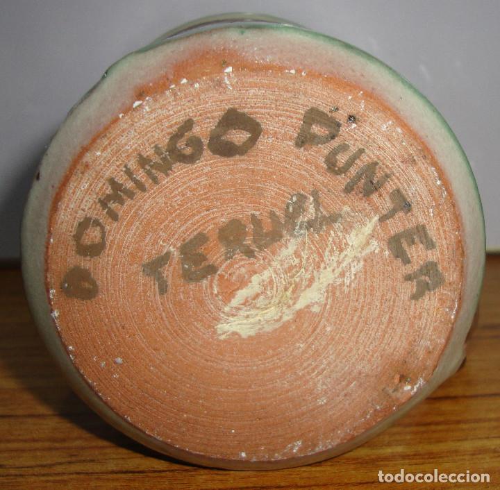 Antigüedades: (TC-126) CURIOSA TAZA JARRA CERAMICA DOMINGO PUNTER DE TERUEL PARA LA ZONA 53 MILITAR - Foto 5 - 138083506