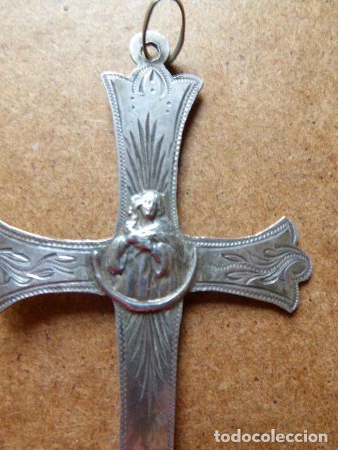 Antigüedades: ANTIGUO CRUCIFIJO DE PLATA. 11 CM ALT - 6 CM ANCH. EL DE LA FOTO. - Foto 3 - 138094470