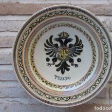 Antigüedades: PLATO HONDO PINTADO Y VIDRIADO, EN CERAMICA DE TALAVERA ( TOLEDO ). Lote 138131478