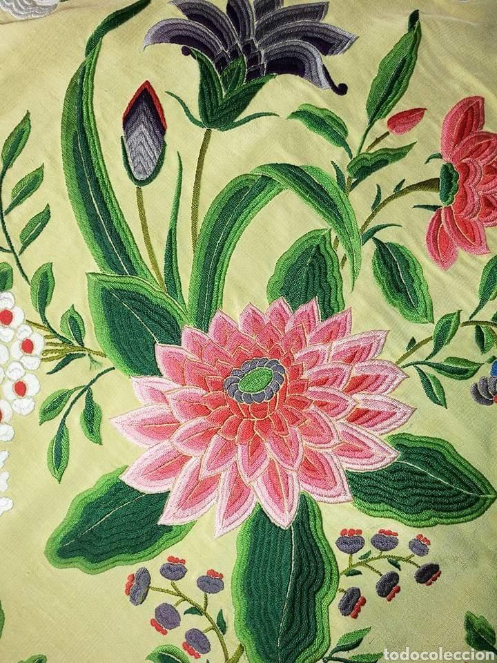 Antigüedades: Maravilloso mantón antiguo, imperio de cuarterones - Foto 6 - 138148642