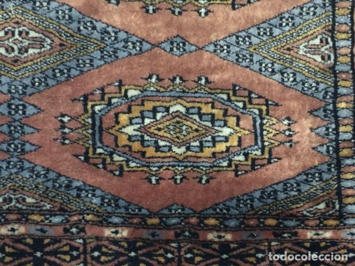 Antigüedades: ALFOMBRA ORIENTAL. ESTILO BUKHARA. VISCOSA O SEDA. ORIENTE MEDIO. SIGLO XX - Foto 8 - 138165486
