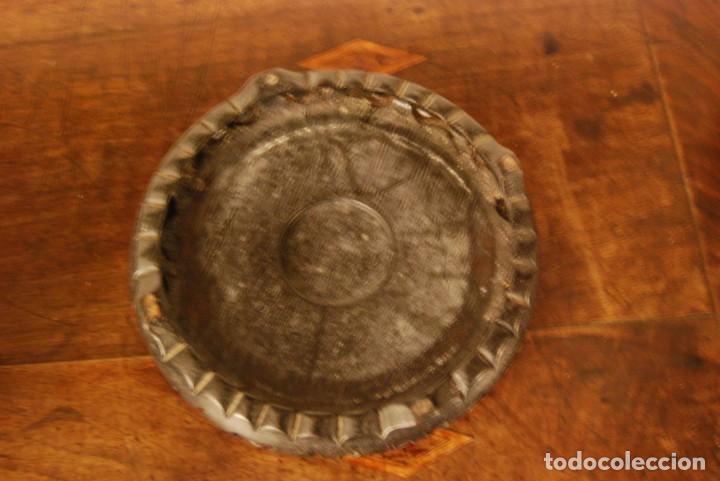 Antigüedades: Peana de madera oriental calada para base jarrón o macetero - Foto 3 - 138170086