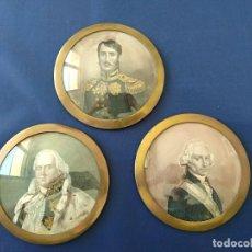 Antigüedades: ANTIGUOS 3 MEDALLONES - PORTAFOTOS.. Lote 138244990