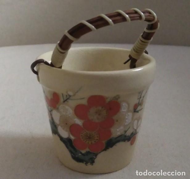 PEQUEÑO CUBO DE PORCELANA JAPONESA SATSUMA (Antigüedades - Porcelana y Cerámica - Japón)