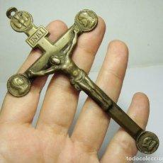 Antigüedades: ANTIGUO CRUCIFIJO DE BRONCE. SOUVENIR DE MISSION.. Lote 138256066