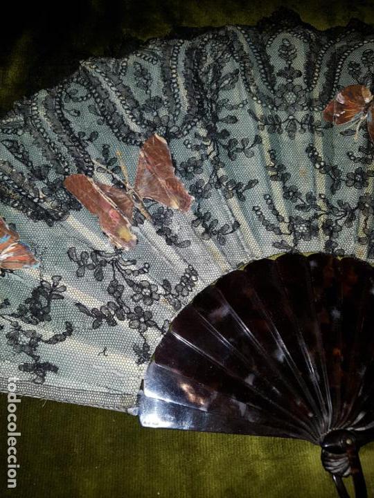 Antigüedades: ABANICO PERICON EN CAREY.SIGLO XIX - Foto 3 - 138283850