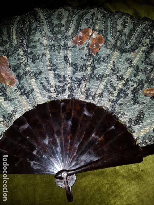 Antigüedades: ABANICO PERICON EN CAREY.SIGLO XIX - Foto 4 - 138283850