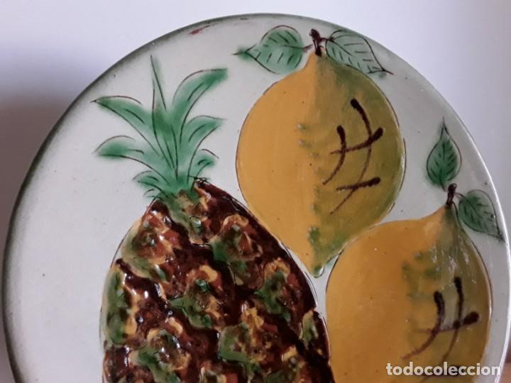 Antigüedades: Plato cerámica La Bisbal - Foto 3 - 138375834