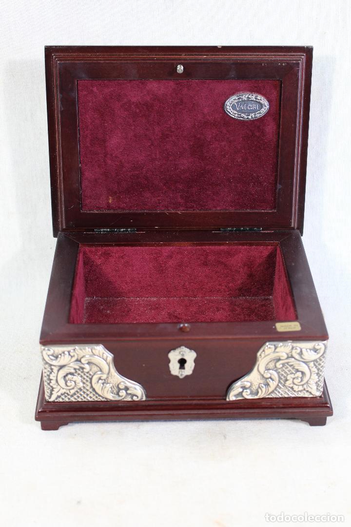 Antigüedades: caja joyero en plata de ley 925milesimas - Foto 2 - 138524278
