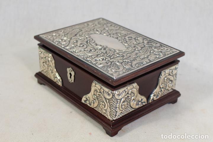 Antigüedades: caja joyero en plata de ley 925milesimas - Foto 3 - 138524278