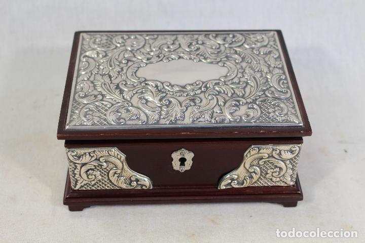 Antigüedades: caja joyero en plata de ley 925milesimas - Foto 4 - 138524278