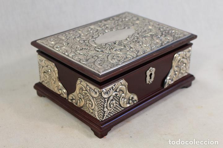 Antigüedades: caja joyero en plata de ley 925milesimas - Foto 5 - 138524278