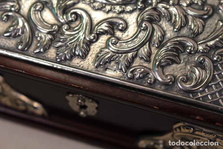 Antigüedades: caja joyero en plata de ley 925milesimas - Foto 7 - 138524278