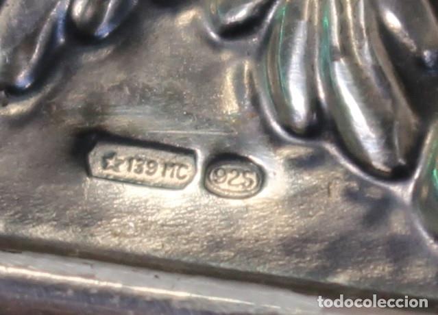 Antigüedades: caja joyero en plata de ley 925milesimas - Foto 9 - 138524278
