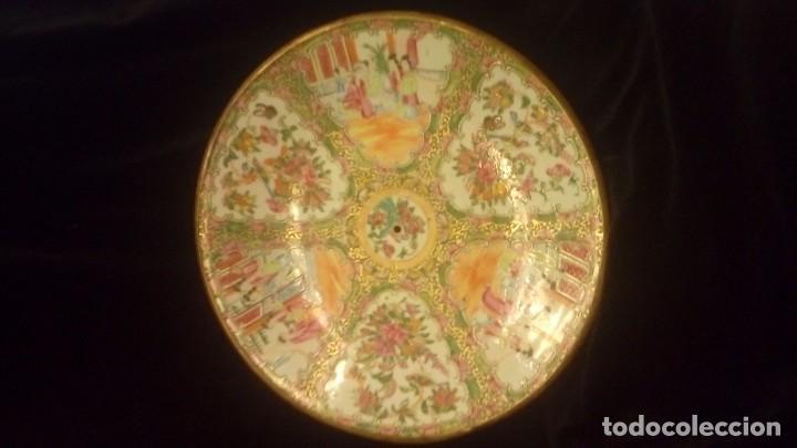 PORCELANA CHINA ANTIGUA.GRAN PLATO CHINO TIPO CANTON (Antigüedades - Porcelanas y Cerámicas - China)
