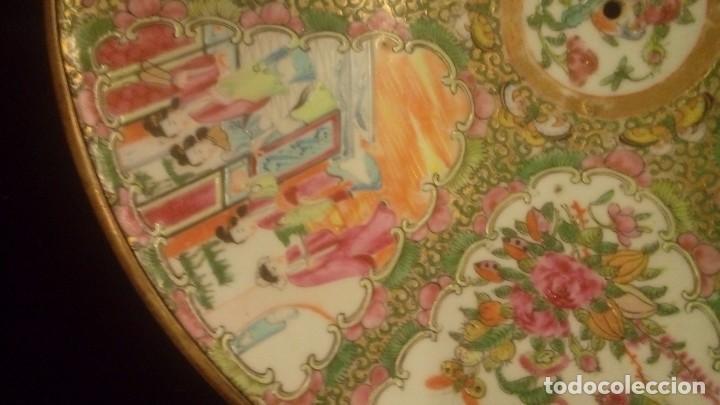 Antigüedades: Porcelana china antigua.Gran plato chino tipo Canton - Foto 2 - 138539338