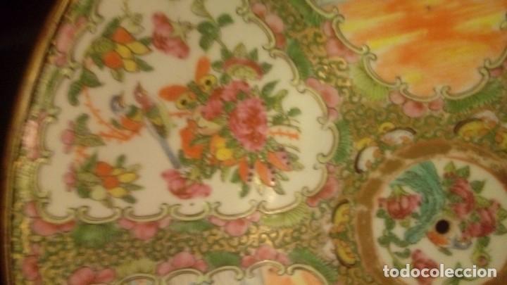 Antigüedades: Porcelana china antigua.Gran plato chino tipo Canton - Foto 3 - 138539338