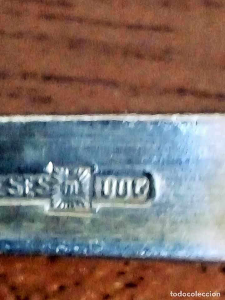 Antiquitäten: Plata Meneses: Cuchara y tenedor de servir 22 cm - Foto 3 - 138552882