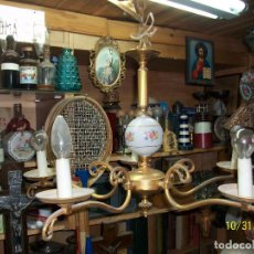 Antigüedades: ANTIGUA LAMPARA DE TECHO-PORCELANA-5 LUCES. Lote 138556778