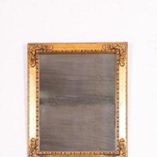Antigüedades: ESPEJO ANTIGUO DE MADERA Y PAN DE ORO. Lote 138577090
