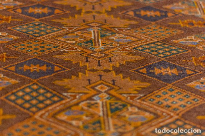Antigüedades: Alfombra lana oriental anudada a mano - Afghan - Pakistán - Nudo Persa - Senneh - Foto 4 - 138596562