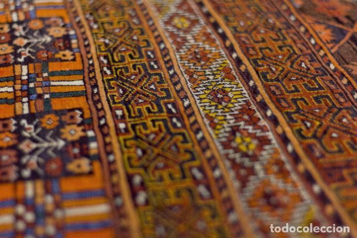 Antigüedades: Alfombra lana oriental anudada a mano - Afghan - Pakistán - Nudo Persa - Senneh - Foto 5 - 138596562