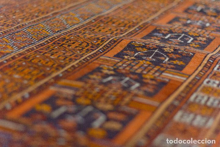 Antigüedades: Alfombra lana oriental anudada a mano - Afghan - Pakistán - Nudo Persa - Senneh - Foto 6 - 138596562