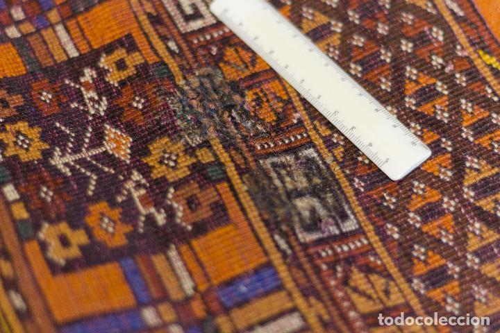 Antigüedades: Alfombra lana oriental anudada a mano - Afghan - Pakistán - Nudo Persa - Senneh - Foto 10 - 138596562