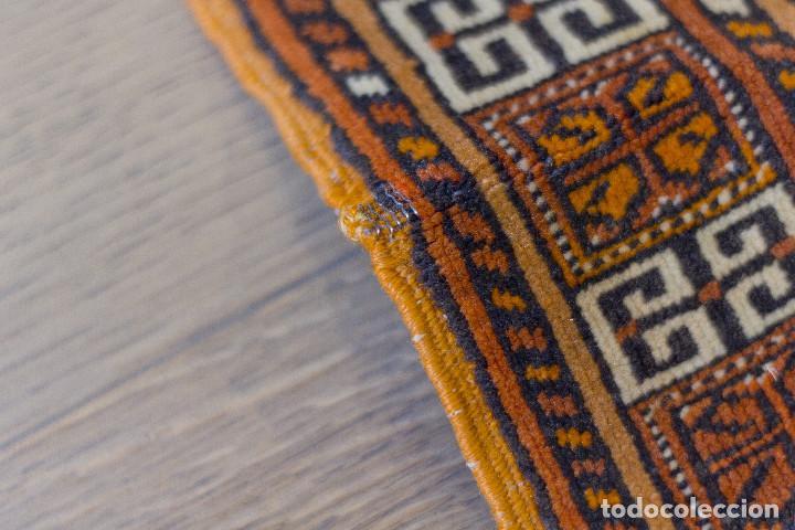 Antigüedades: Alfombra lana oriental anudada a mano - Afghan - Pakistán - Nudo Persa - Senneh - Foto 11 - 138596562