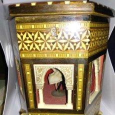 Antigüedades: PRECIOSA CAJA MUSICAL 20 X 15 CM ALHAMBRA A LARA CON PAREJA BAILARINES EN EL INTERIOR SWISS REUGE. Lote 138623822