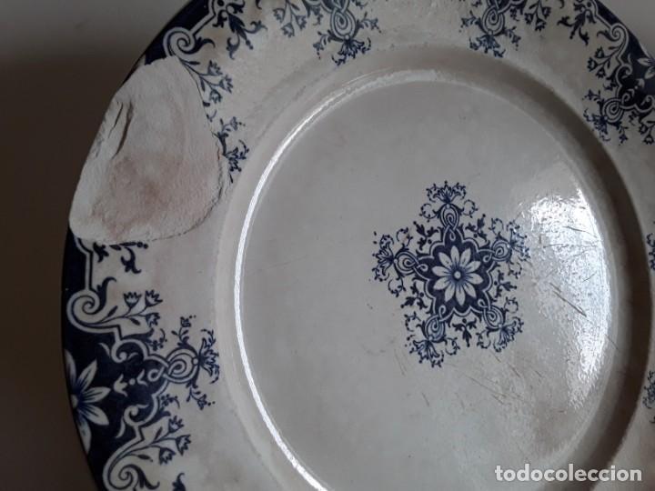 Antigüedades: Antiguos Platos cerámica Jules Vieillard. S. XIX - Foto 2 - 138630750