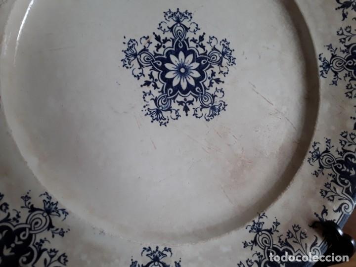 Antigüedades: Antiguos Platos cerámica Jules Vieillard. S. XIX - Foto 3 - 138630750