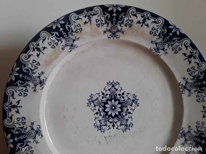Antigüedades: Antiguos Platos cerámica Jules Vieillard. S. XIX - Foto 5 - 138630750