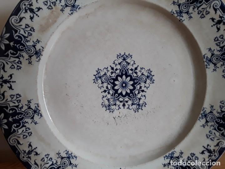 Antigüedades: Antiguos Platos cerámica Jules Vieillard. S. XIX - Foto 6 - 138630750