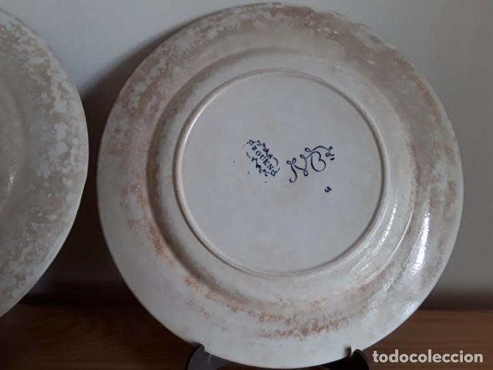 Antigüedades: Antiguos Platos cerámica Jules Vieillard. S. XIX - Foto 10 - 138630750