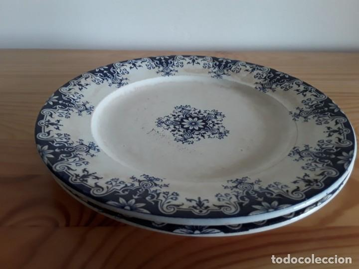 Antigüedades: Antiguos Platos cerámica Jules Vieillard. S. XIX - Foto 11 - 138630750